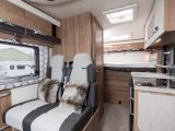 You have a transverse double bed at the back of the 2018 Swift Rio 325