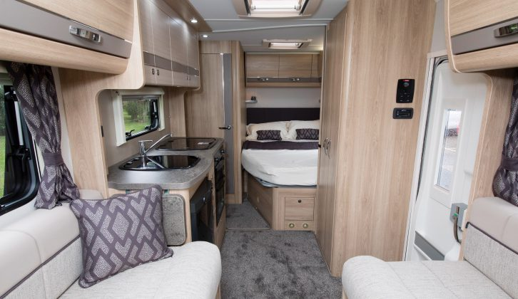 All Autoquest 'vans have 'Everley in Espresso' upholstery and Karnak graphite worktops for 2018