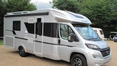 The silver 2018 Adria Coral Supreme 670 SLT is certainly a head-turner – and has a handy 3500kg MTPLM