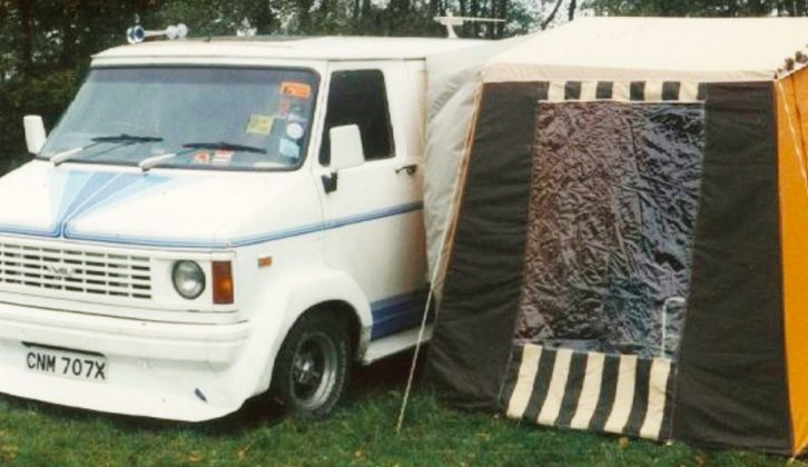 Here is Dee and Tony's first motorhome that kick-started their love of touring – a converted Bedford CF2