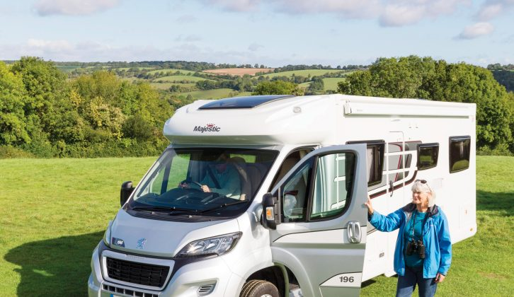 This motorhome is based on the Elddis Autoquest 196, but the silver cab and Majestic branding make it stand out