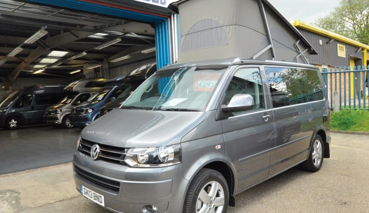 You can see two of the options right away – this 'van has 17in alloy wheels and mud flaps