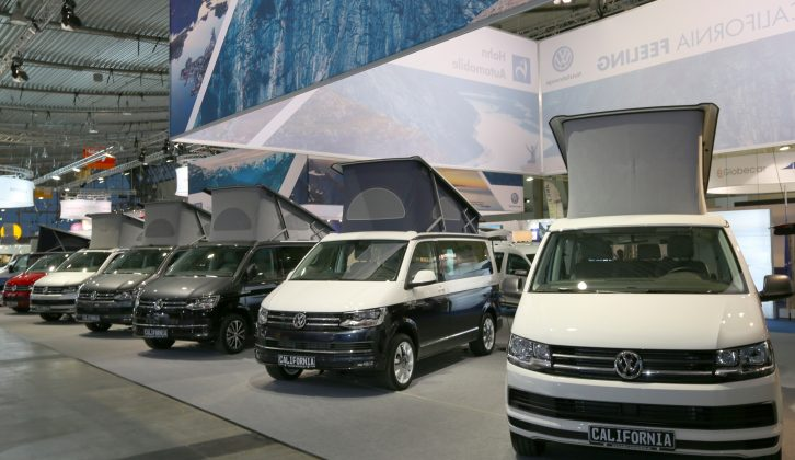 There was also an impressive range of VW camper vans on display