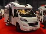 The Bürstner Lyseo TD 745 Harmony Line makes its UK debut at the Caravan and Motorhome Show in Manchester