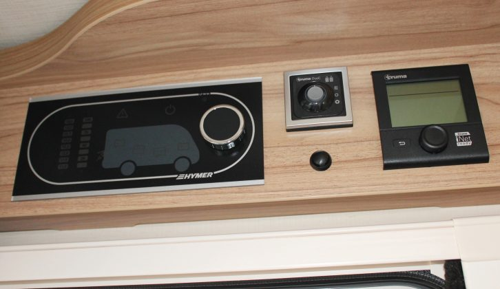 The 'van's control panels are above the door and it is iNet ready