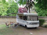 A classic Hymer was the second motorhome the McMahon family hired