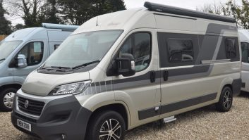 The wind-out awning is just one of the many desirable items fitted as standard to this 3500kg Ducato-based van conversion