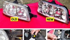 Here you can see the difference a new set of headlamps could make to your motorhome