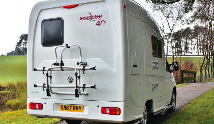 The rear bike rack fitted here is part of the 40th Anniversary Edition pack