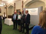 Owners of CL of the Year 2018 Avon Bank Meadow collecting their award at The Caravan and Motorhome Club's Autumn Parliamentary Reception