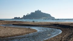 The stunning St Michael's Mount is just across the Channel from Mont St Michel, Normandy's equally stunning island monastery