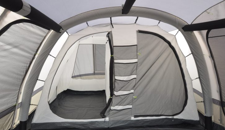 The awning comes with a sewn-in ground sheet