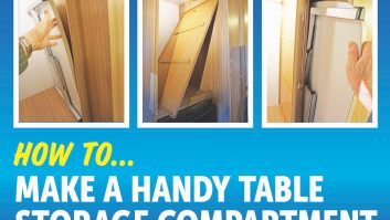 We've got a step-by-step guide to making a convenient storage compartment for your table