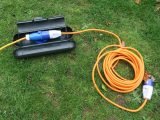 Pack an additional 10m cable and a weather-proof plug and coupler safe box, just in case the hook-up is far away