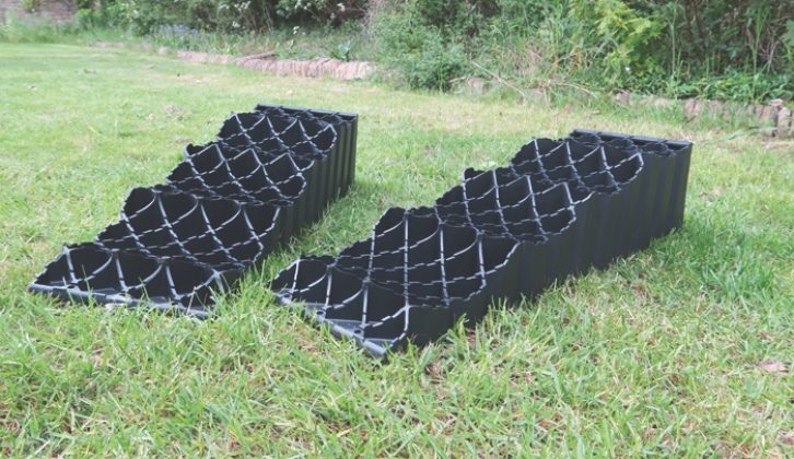 Ramps and chocks are perfect for levelling up your motorhome when you are staying on an uneven pitch