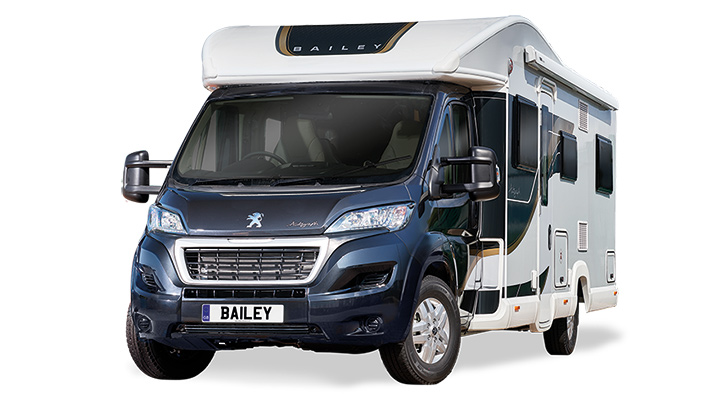 Exterior photo of the Bailey Autograph 816, winner of the best 6 berth motorhome at the Practical Motorhome Awards 2022