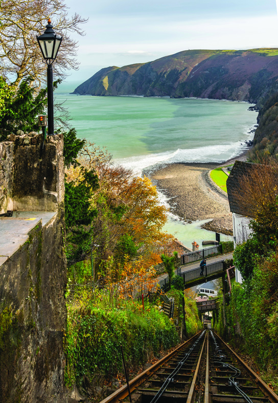 The funicular in Lynton & ynmouth is the highest and steepest fully water-powered railway in the world!