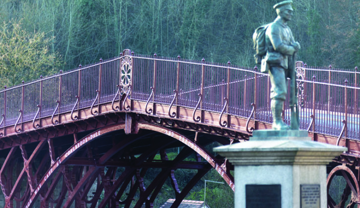 The Iron Bridge in Shropshire, a symbol of the start of the Industrial Revolution