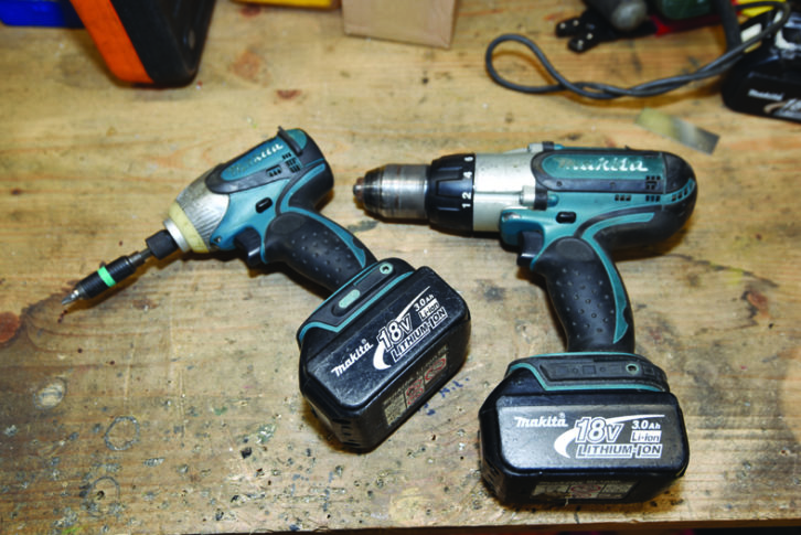 A drill driver is useful on longer trips, while an impact driver is a 'nice to have' if you have the room and the payload