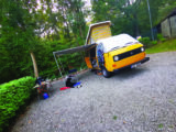 Once on-site, Wilma works as well as any camper. The roll-out awning is a terrific addition
