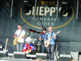 Plenty of live music to enjoy at Sheppy's Farm - and a few glasses of cider, too!