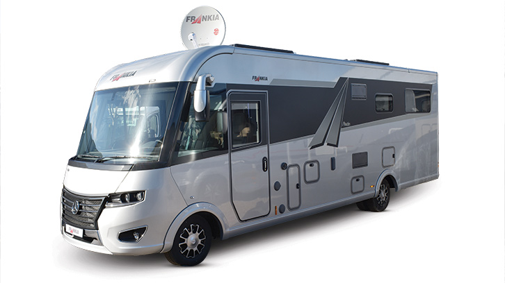 Exterior photo of the Frankia I8400 Plus Platin, winner of the best motorhome over £80,000 at the Practical Motorhome Awards 2022